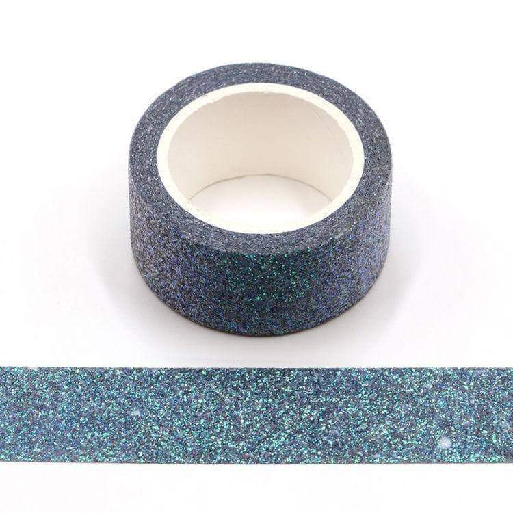 Punky Pins Blue and Green Glitter Mermaid Wide Washi Tape