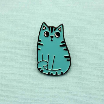 Blue Cat Enamel Pin