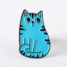 Punky Pins Blue Cat Enamel Pin