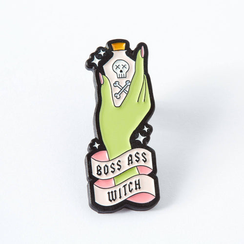 Boss Ass Witch Enamel Pin