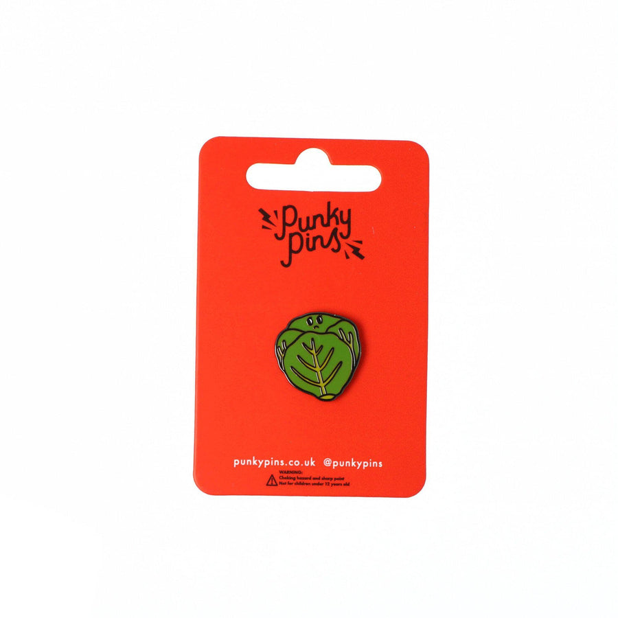 Punky Pins Brussels Sprout Enamel Pin Sample