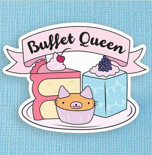 Punky Pins Buffet Queen Large Vinyl Sticker