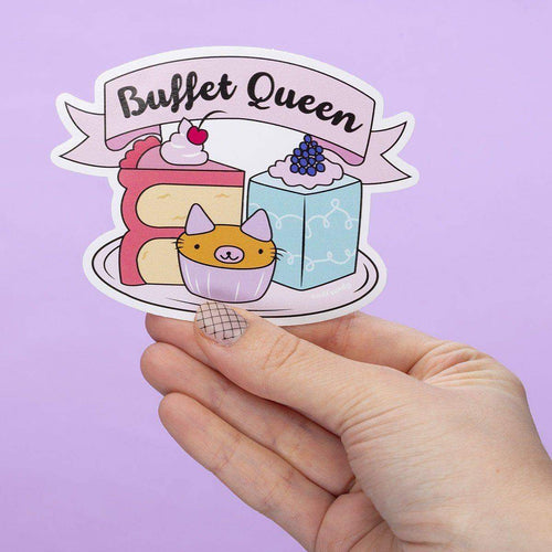 Buffet Queen Large Vinyl Sticker
