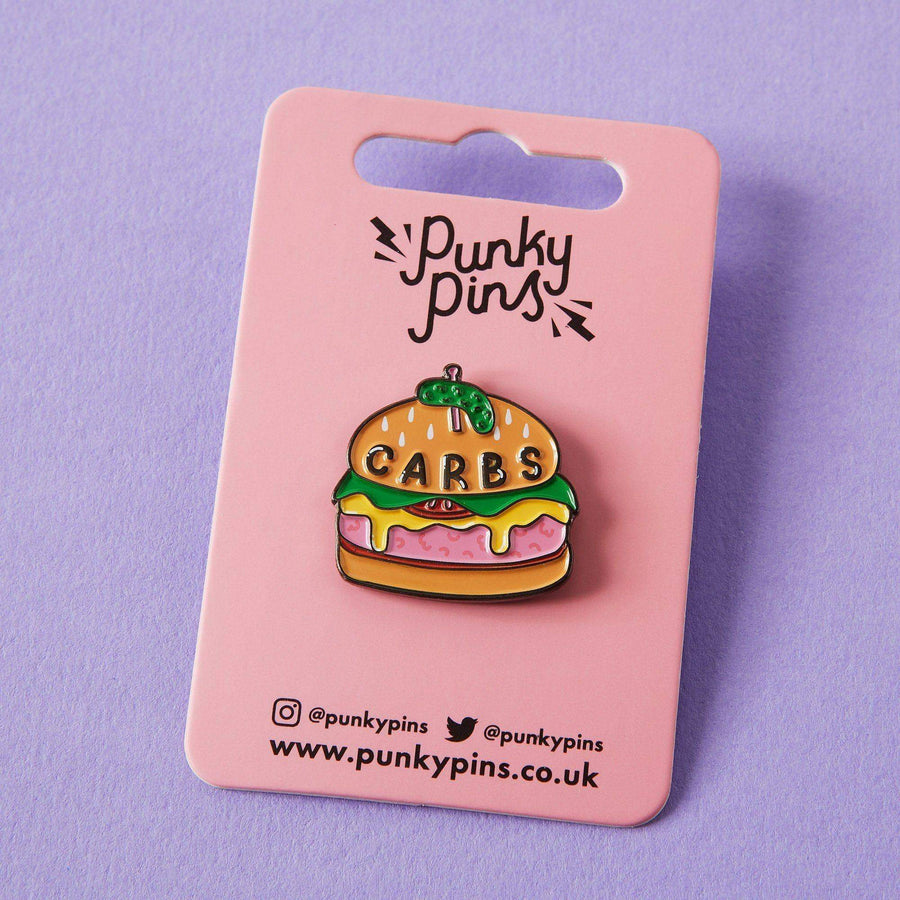 Carbs Burger Enamel Pin
