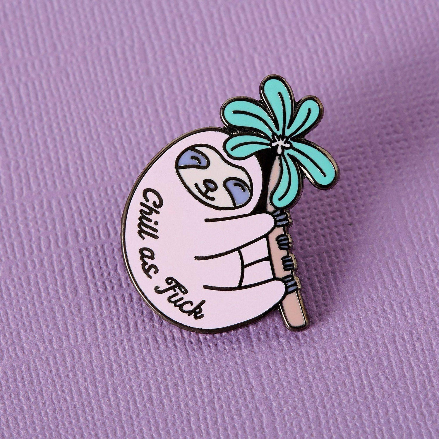 Punky Pins Chill as Fuck Sloth Enamel Pin