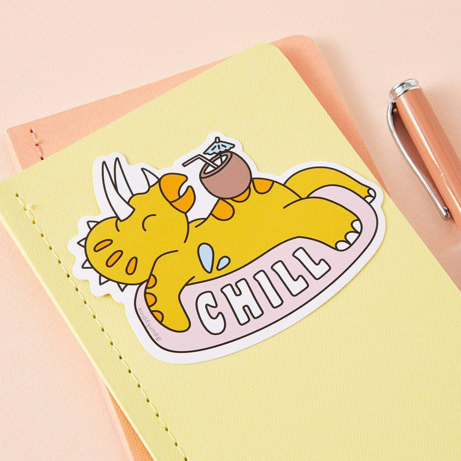 Chill Dinosaur Large Vinyl Sticker