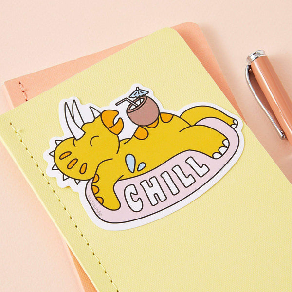 Punky Pins Chill Dinosaur Large Vinyl Sticker