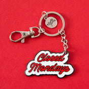 Punky Pins Closed Mondays Enamel Keyring