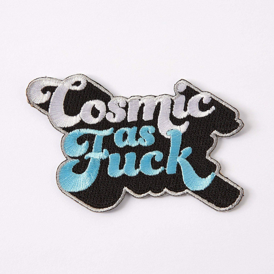 Cosmic as Fuck Embroidered Iron On Patch