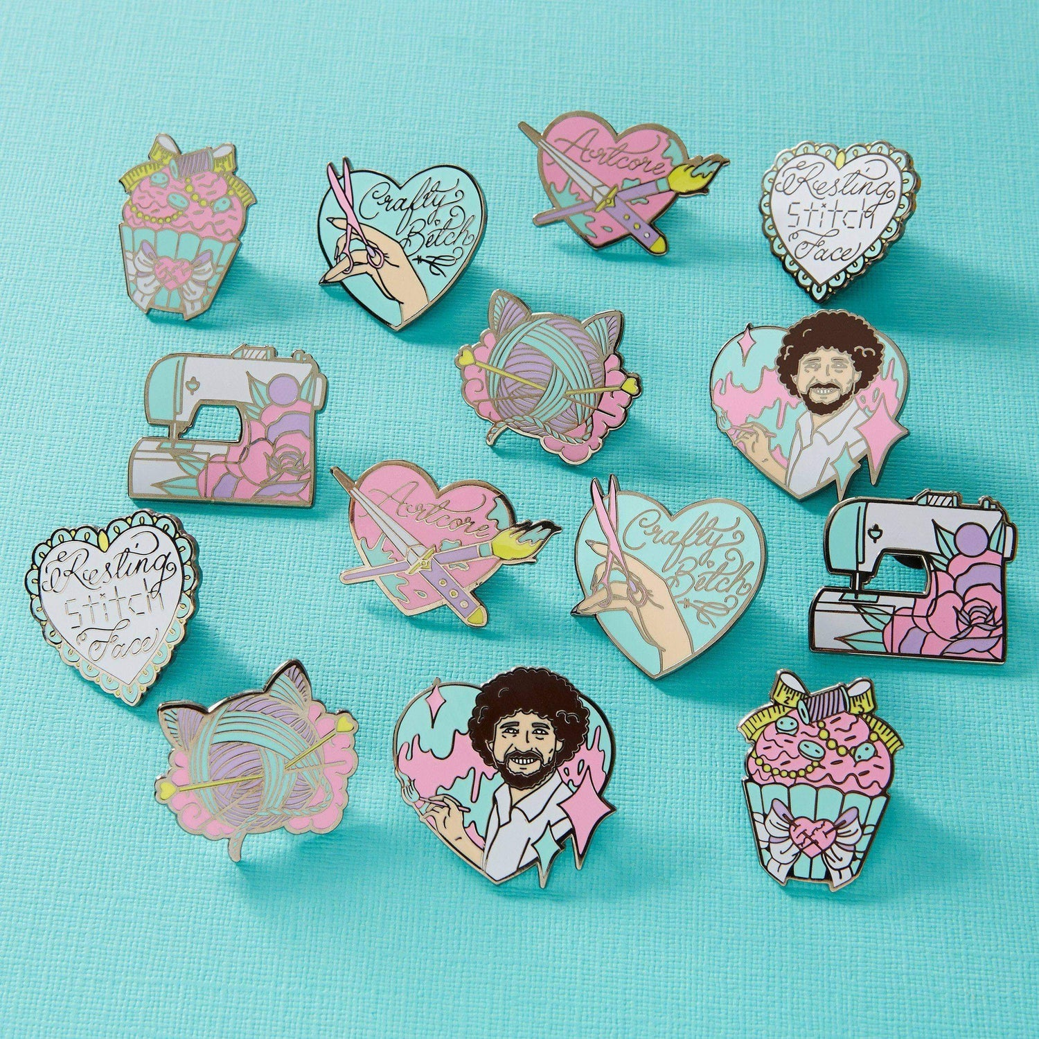 Punky Pins Crafty Cupcake Enamel Pin