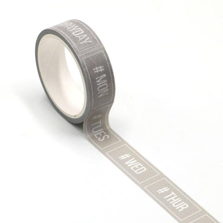 #Days of the Week Easy Tear Washi Tape