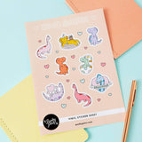 Punky Pins Dino Babes A5 Vinyl Sticker Sheet