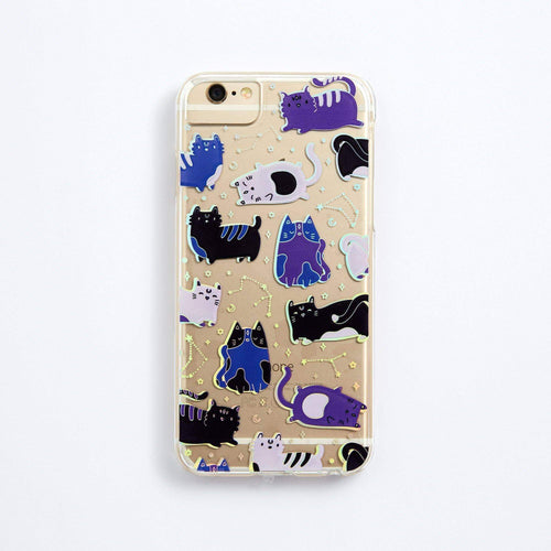 Punky Pins Doodle Dark Cats Phone Case