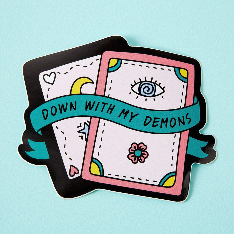 Down With My Demons Laptop Sticker