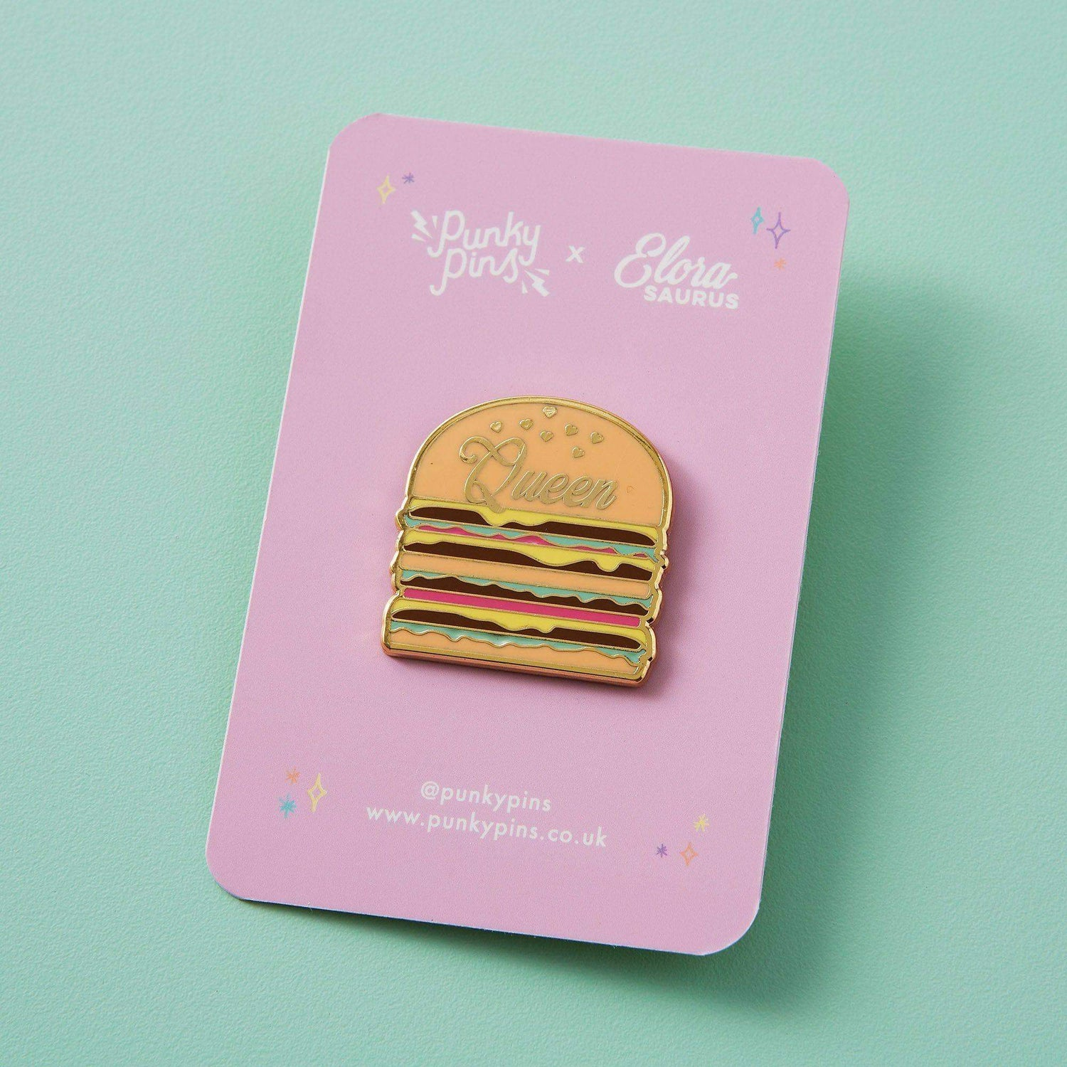 Punky Pins Elorasaurus Burger Queen Enamel Pin