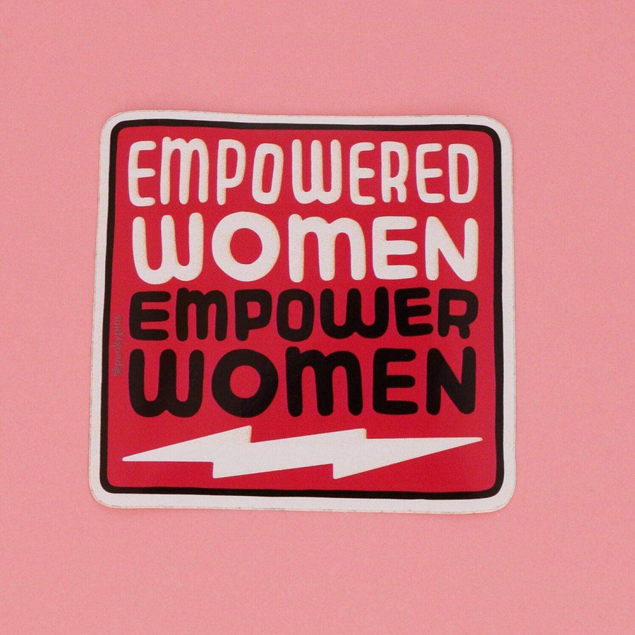 Punky Pins Empowered Women Empower Women Vinyl Sticker