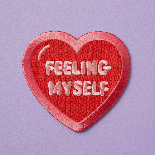 Punky Pins Feeling Myself Embroidered Iron On Patch