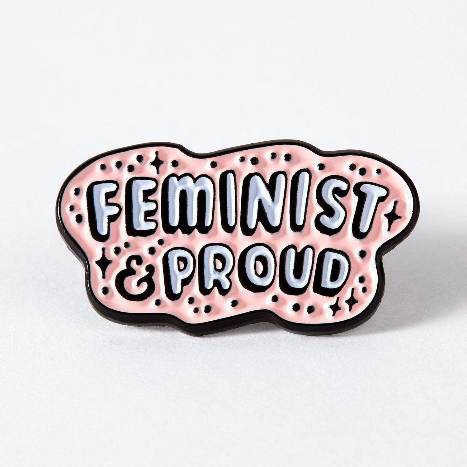 Punky Pins Feminist and Proud Enamel Pin