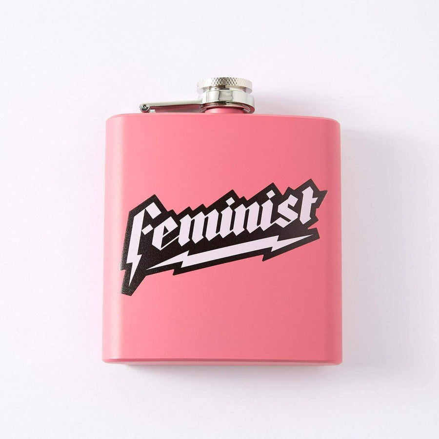 Punky Pins Feminist Hip Flask Sample 1