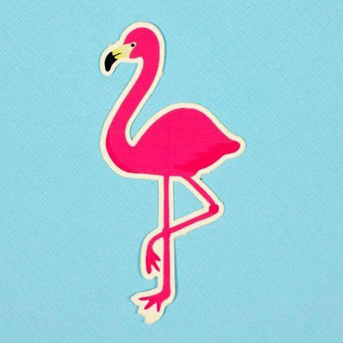 Punky Pins Flamingo Die Cut Vinyl Sticker