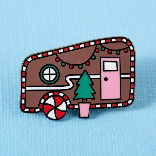 Gingerbread Caravan Enamel Pin