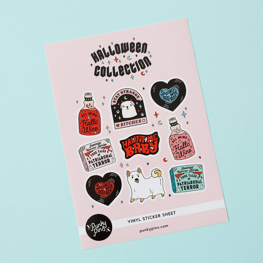Punky Pins Halloween A5 Vinyl Sticker Sheet
