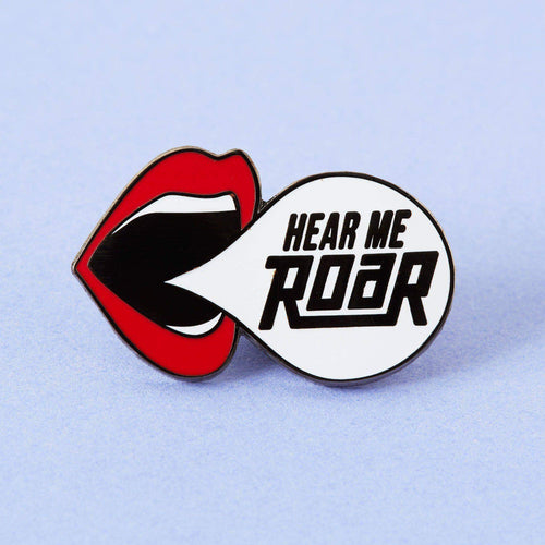 Punky Pins Hear Me Roar Enamel Pin