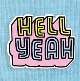 Punky Pins Hell Yeah Large Vinyl Sticker