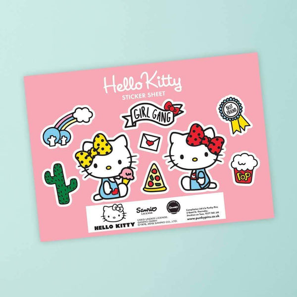 Punky Pins Hello Kitty and Mimmy Best Friends Sticker Sheet