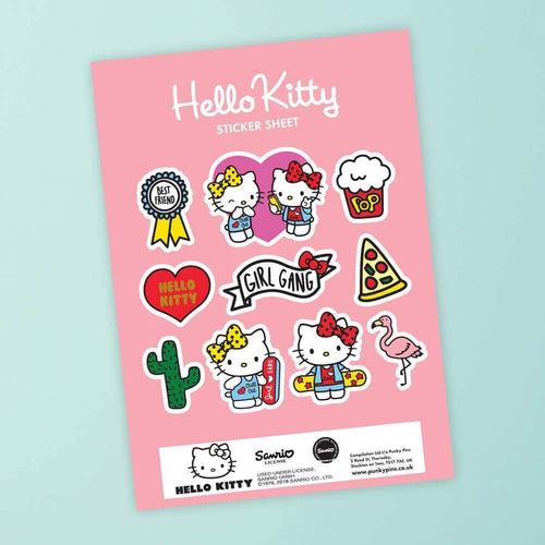 Hello Kitty Best Friends Girl Gang Sticker Sheet