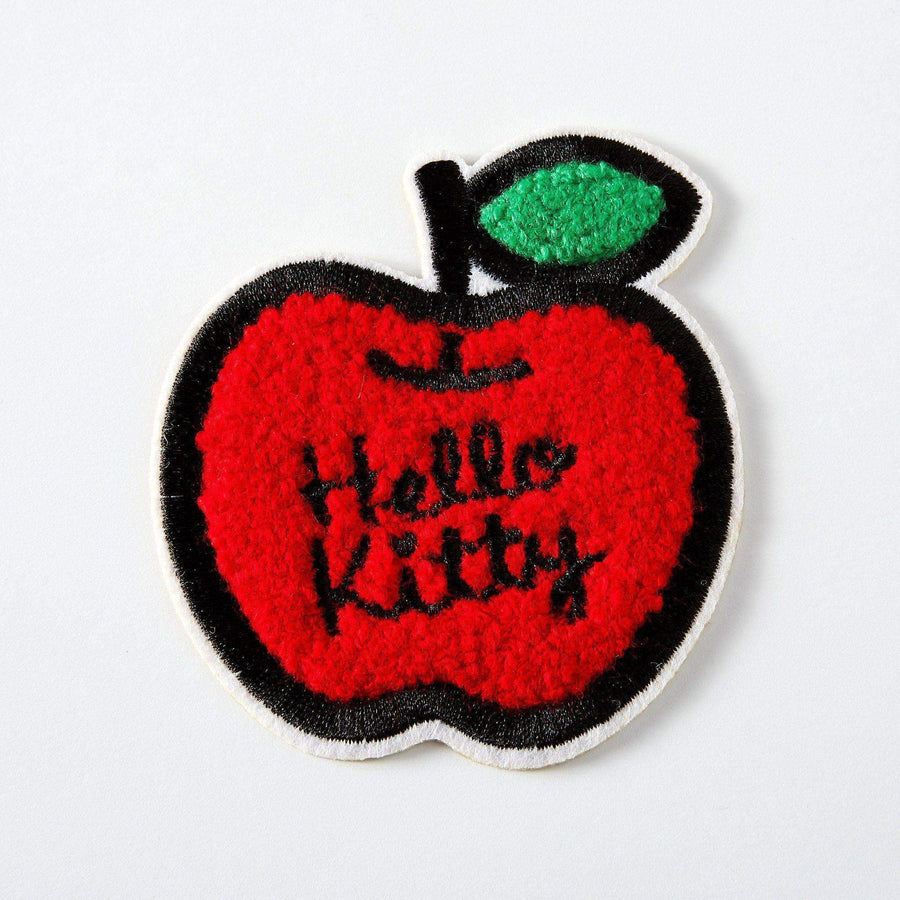 Hello Kitty Chenille Apple Embroidered Iron On Patch