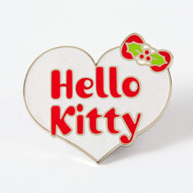 Punky Pins Hello Kitty Christmas Heart Enamel Pin