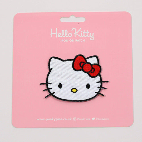 Punky Pins Hello Kitty Face Iron On Patch