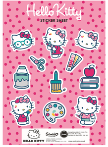 Punky Pins Hello Kitty Get Creative Sticker Sheet