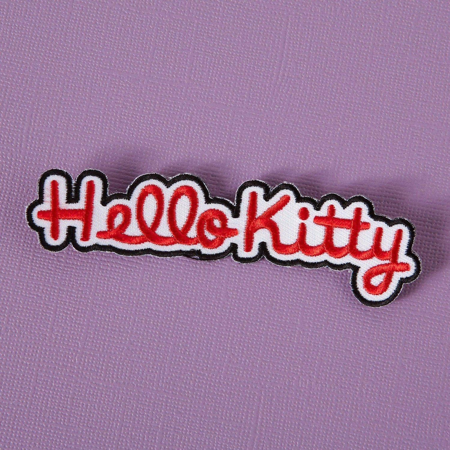 Punky Pins Hello Kitty Logo Embroidered Iron On Patch
