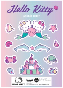 Punky Pins Hello Kitty Mermaid Sisters Sticker Sheet
