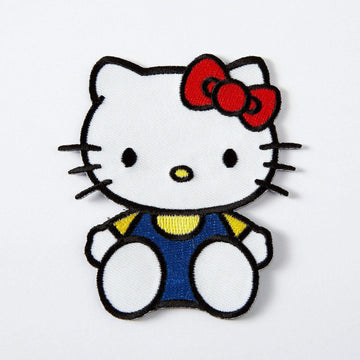 Hello Kitty Sitting Embroidered Iron On Patch