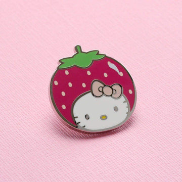 Hello Kitty Strawberry Head Enamel Pin