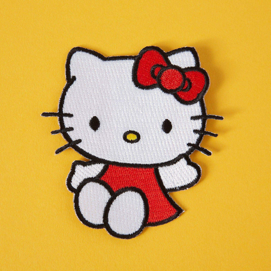 Hello Kitty Wave Iron On Patch