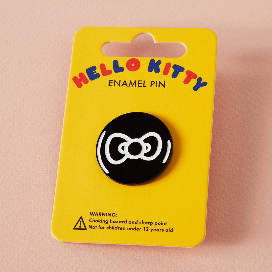 Hello Kitty x Punky Pins Monochrome Bow Enamel Pin