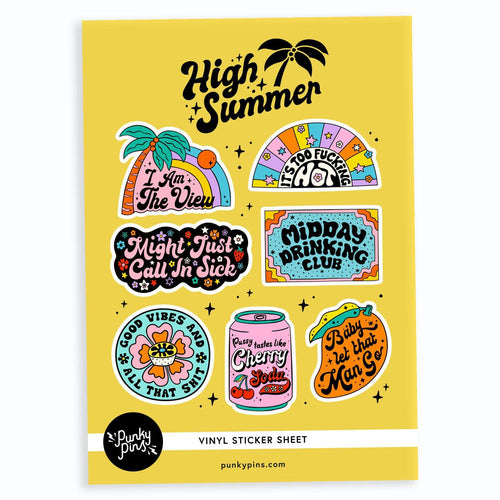 High Summer A5 Vinyl Sticker Sheet