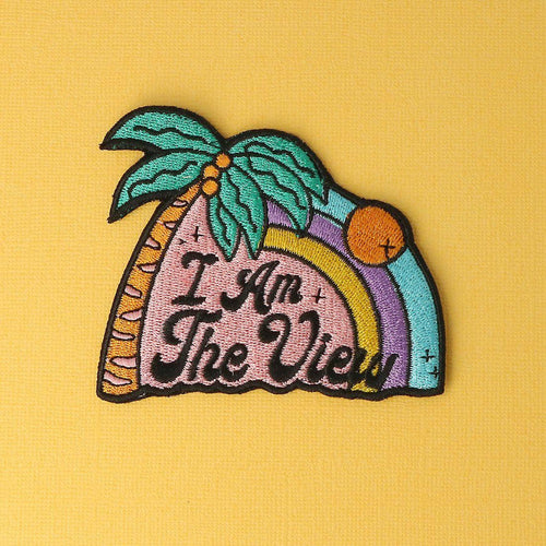 I Am The View Embroidered Iron On Patch