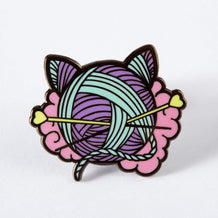Punky Pins Kitten Wool Ball Enamel Pin