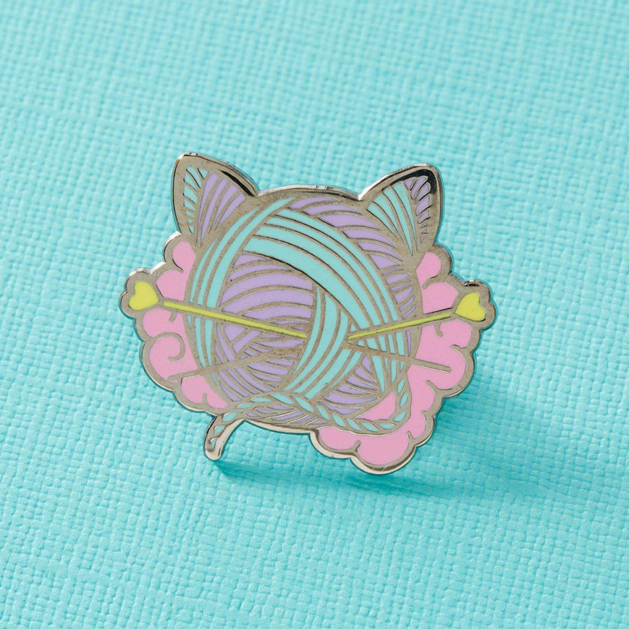 Kitten Wool Ball Enamel Pin