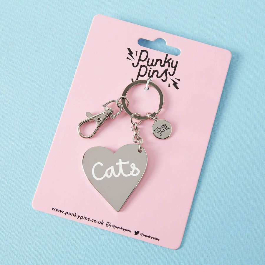 Love Cats Enamel Keyring