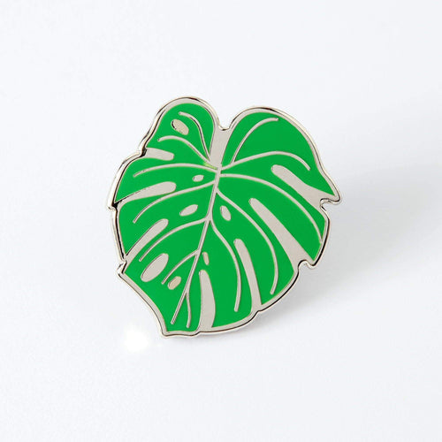 Punky Pins Monstera Cheese Plant Leaf Enamel Pin