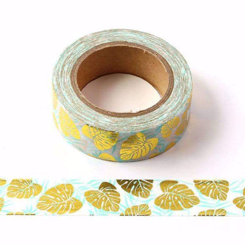 Punky Pins Monstera Leaves Gold Foil Washi Tape