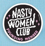 Punky Pins Nasty Women Club Large Vinyl Sticker