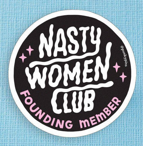 Nasty Women Club Large Vinyl Sticker