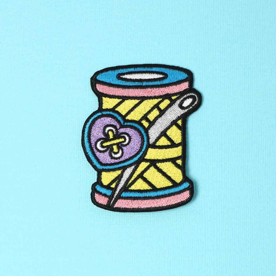 Punky Pins Needle & Thread Embroidered Iron On Patch